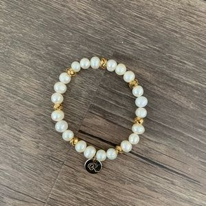 Society beaded stretch bracelet